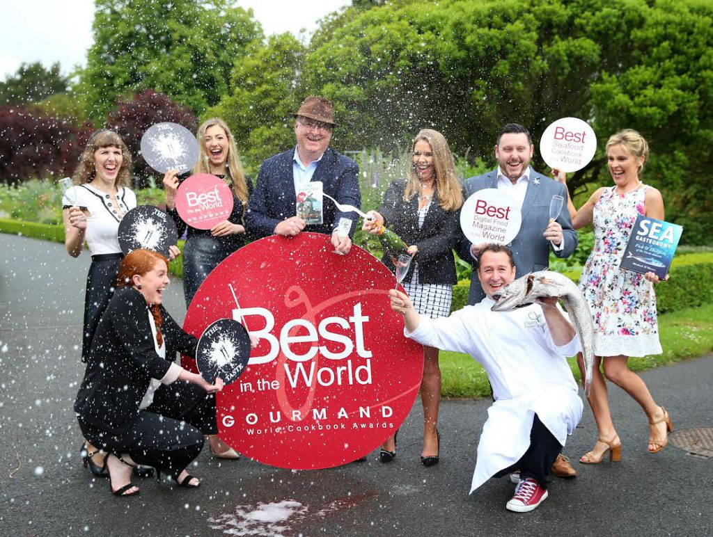 Gourmand Awards 2016 - TheTaste.ie team, Trevis Gleason (centre with hat), Michael O'Meara - Bekah Molony - Irish Blogger