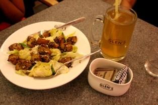 Potato Mustard Salad with Ice Tea