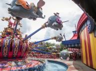 The Dumbo ride at WDW