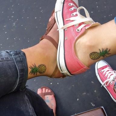 Colorful_friendship_pineapple_tattoos_on_feet
