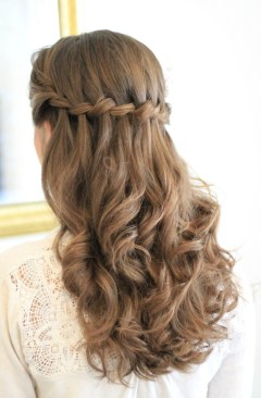 Half-up-waterfall-plait