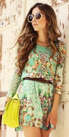 street-style-green-floral-print