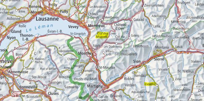 Col des Mosses map