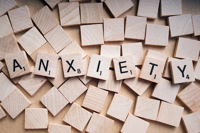 Anxiety written in scrabble