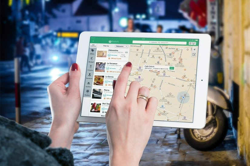 Ipad with map