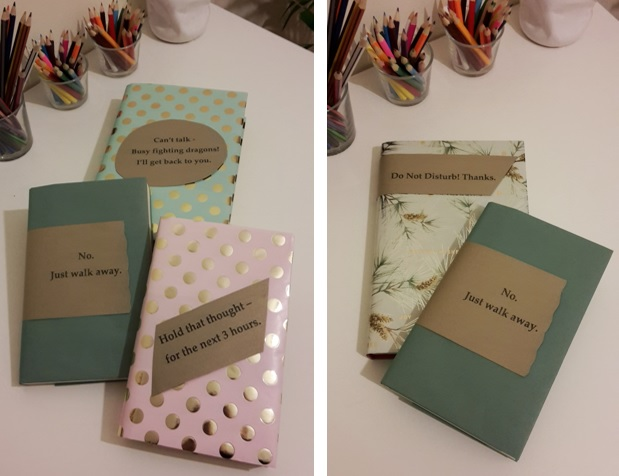 DIY Friday – Luxury dust jackets that get your message across. Finished books