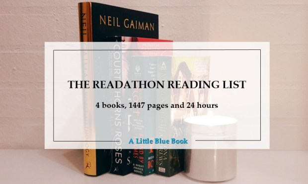 The Readathon Reading list - 4 books 1447 pages and 24 hours
