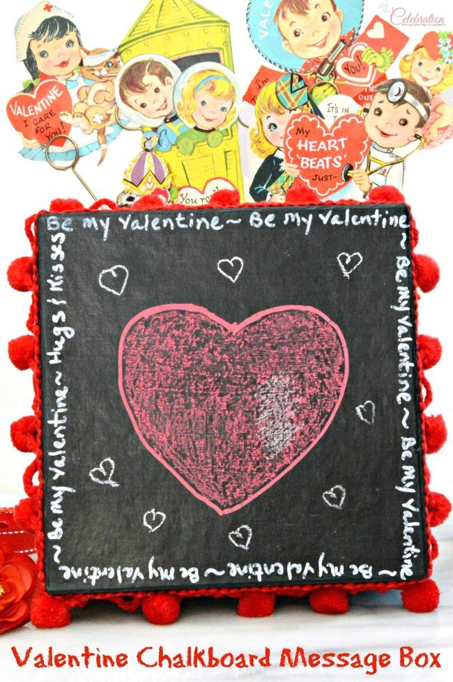 Diy Valentine Chalkboard Message Box Little Miss