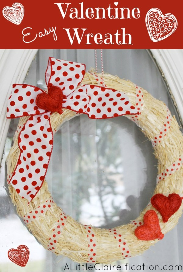 DIY Easy Valentine Wreath - A Crafty Fail? - A Little ...