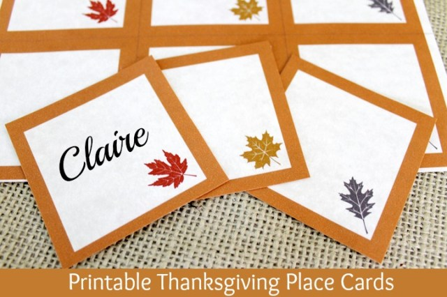 Epic image intended for printable thanksgiving place cards