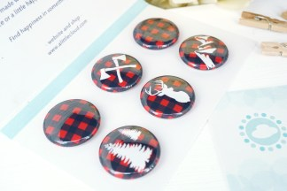 Buffalo Plaid Magnets