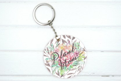 Plant mom with floral bouquet graphic