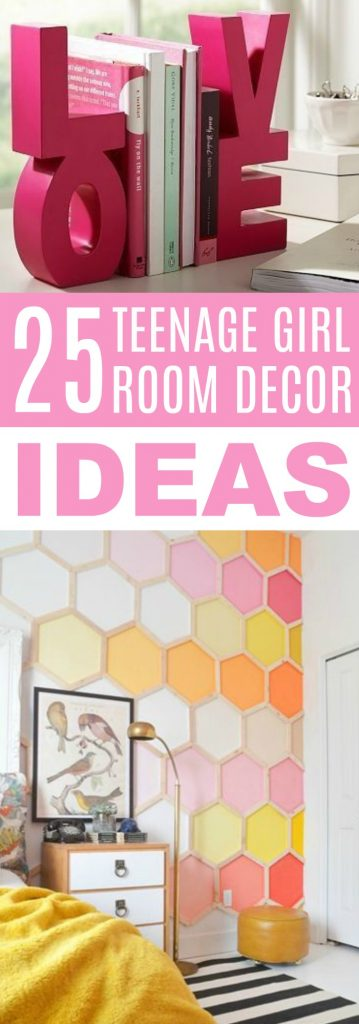 25 Teenage Girl Room Decor Ideas - A Little Craft In Your Day on Teenage Room Decor Things  id=43643
