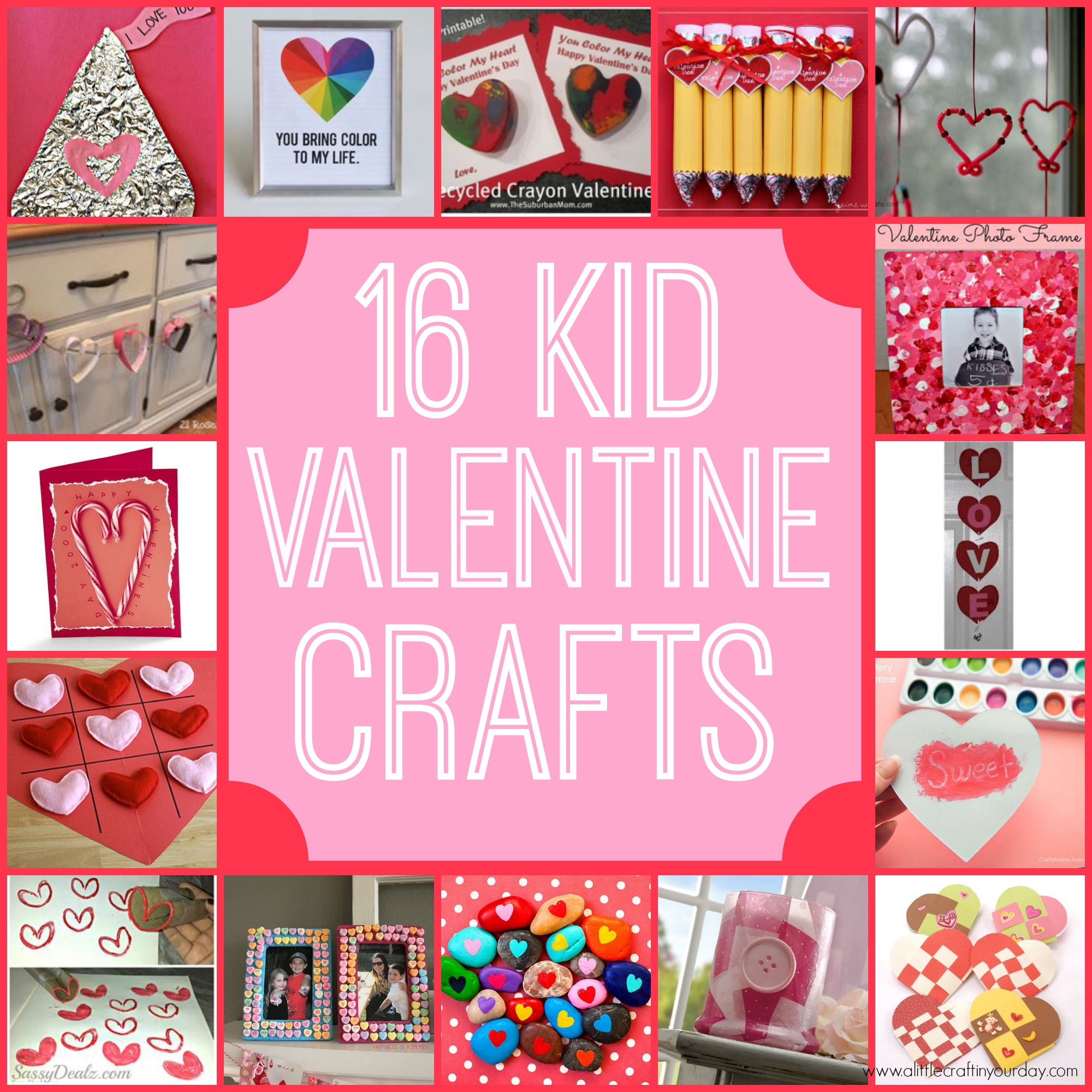 16 Valentine Kid Crafts