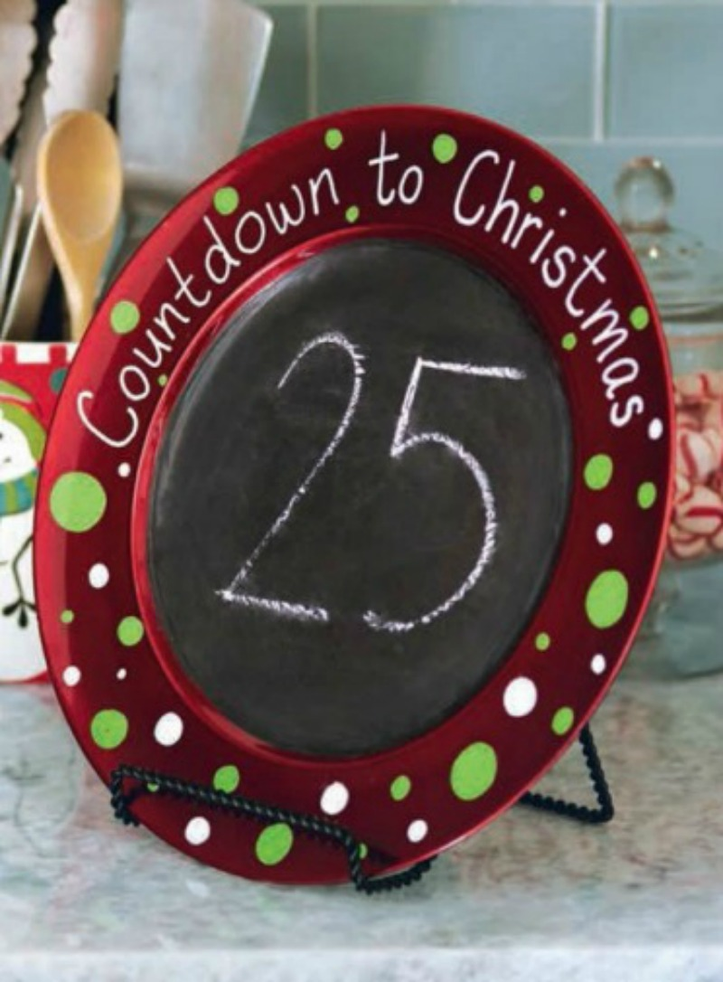 DIY Christmas Countdown Charger A Little Craft In Your Day