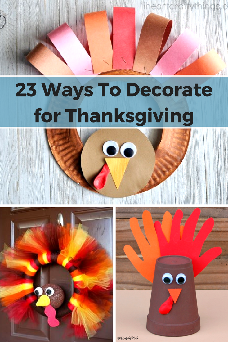 23 Ways To Decorate For Thanksgiving A Little Craft In