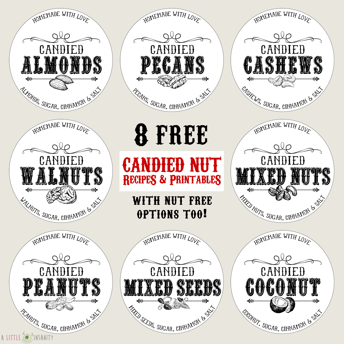 8 Free Homemade Can D Nuts Printable Labels