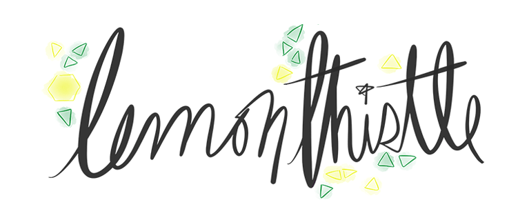 Thanks to Colleen Pastoor of Lemon Thistle for generously donating some of her hand-lettered art for the event.