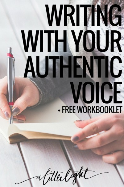 writing with your authentic voice