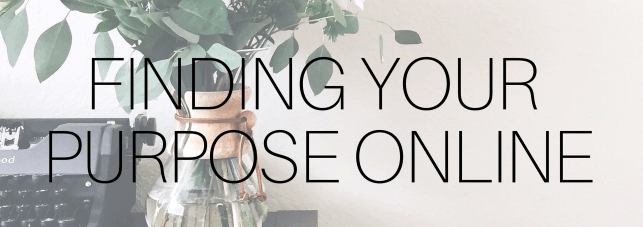 your purpose online banner