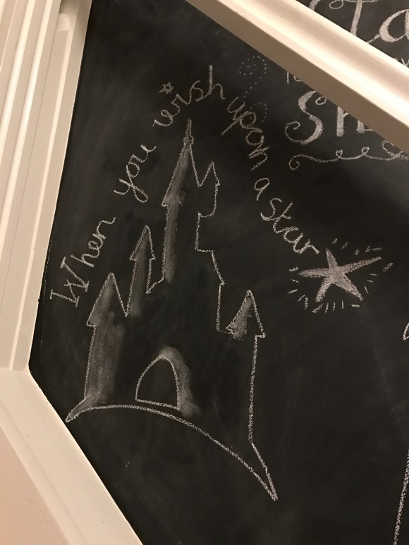 disney castle chalk wall