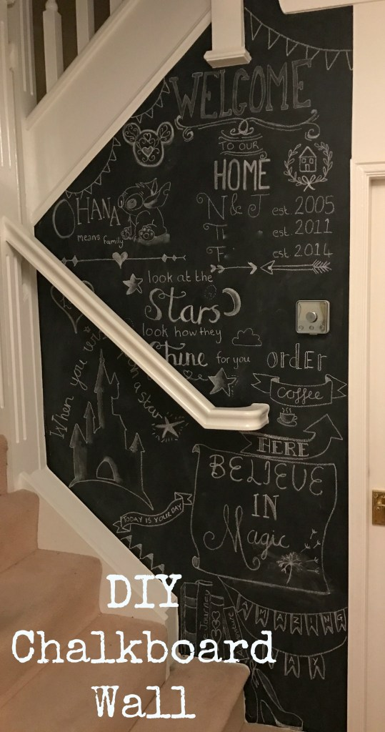 Diy Wall Decor Chalkboard : Chalkboard wall diy decoration at home its super easy to do