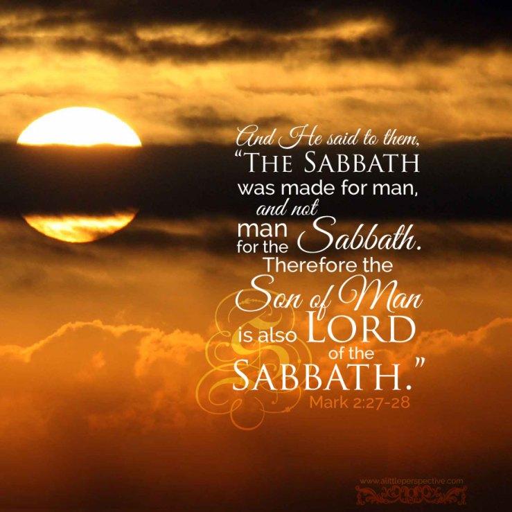 mark 2, lord of the sabbath