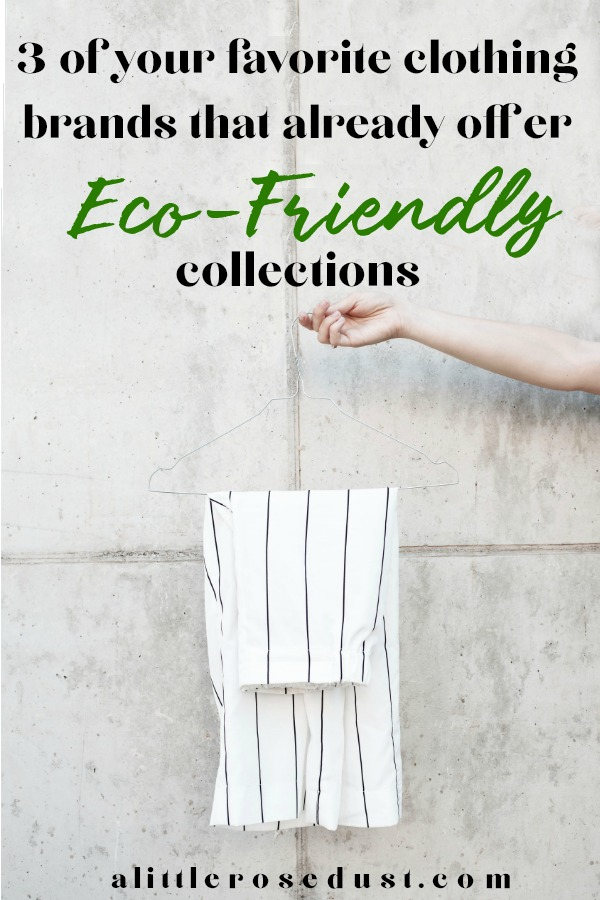 fast fashion brands that offer eco friendly lines