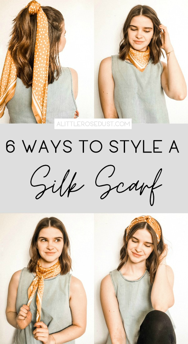 how to style a silk scarf