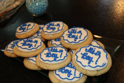 It's a Boy cookies!