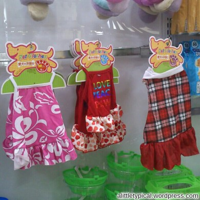 Cute dresses for doggy.