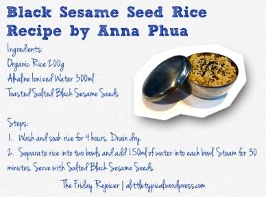 Black Sesame Seed Rice Recipe TFR