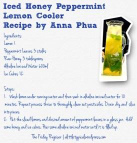 Iced Honey Peppermint Lemon Cooler TFR