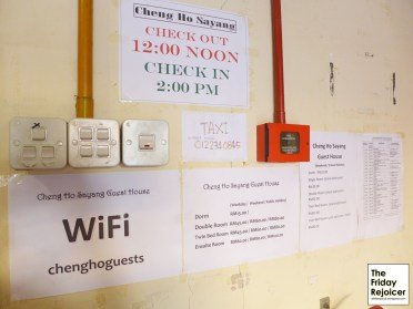 Free wifi password, other checkin information and tourists' know-how.