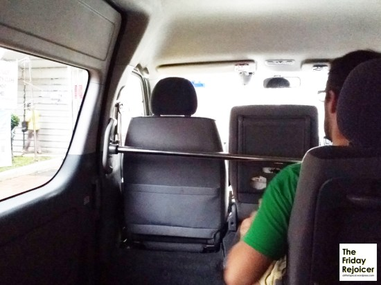 Interior of minivan