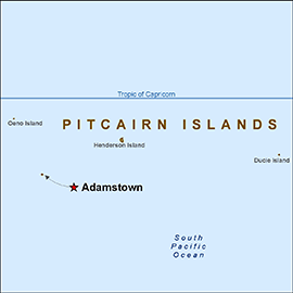 (Above: Map of the Pitcairn Islands)
