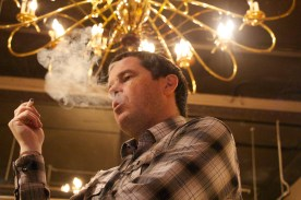 Kevin Murray smokes an E cigarette inside City Cigar Emporium Vancouver