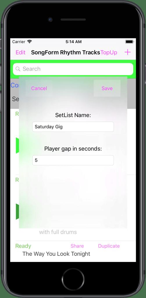 En 美国 IPhone 7 04 SetListConfigScreen 框