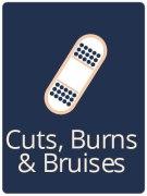 cuts bruises burns