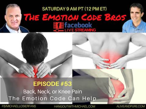 Episode #53 Back, Neck, or Knee Pain The Emotion Code Can Help, with John and Michael