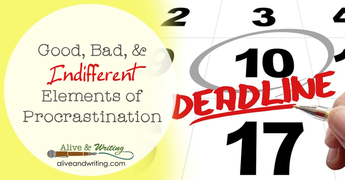 3 articles on the good, bad, and indifferent elements of procrastination