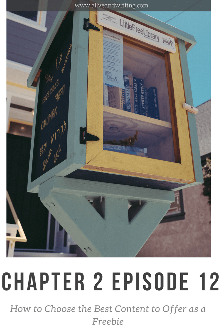 Chapter 2 Episode 12 How to Choose the Best Content to Offer as a Freebie