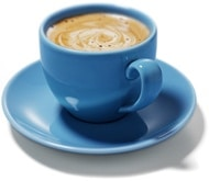 Coffee in a Blue Cup
