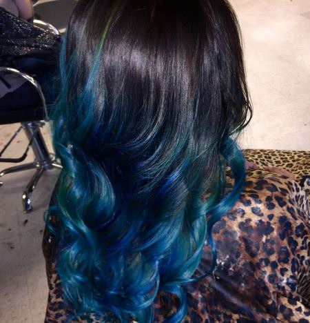 Pictures of black hair with blue highlights the best black hair 2017 black hair with blue highlights hairstyles and haircuts pmusecretfo Choice Image