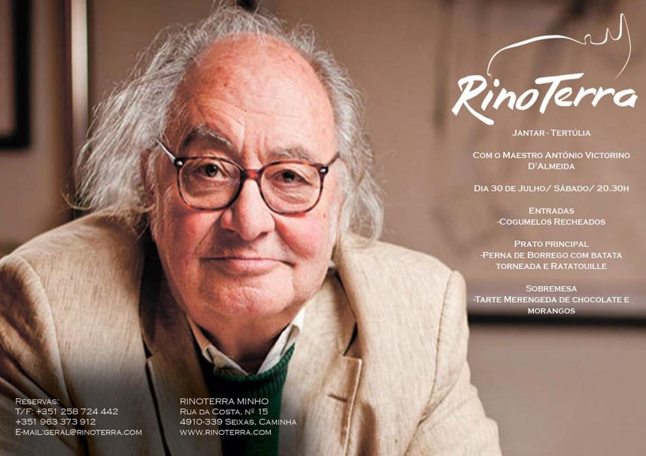 Jantar-Tertúlia - Maestro A. Victorino D'Almeida (Rinoterra Minho, 30 de Julho)