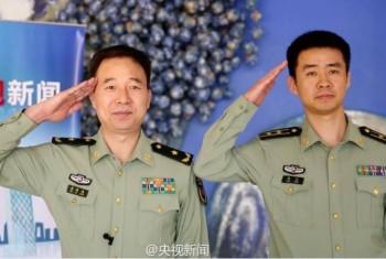 Astronauti cinesi: comandante Jing Haipeng e pilota Chen Dong