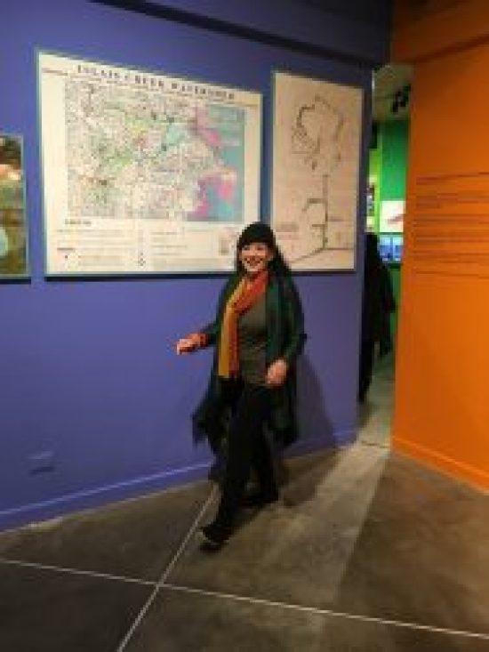 Bonnie Ora with her installation