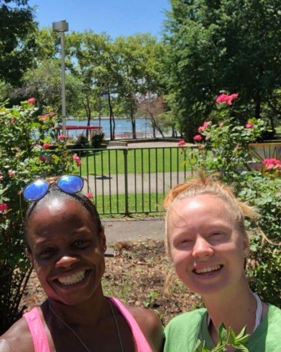 China and Emma at RI Living Library Think Park