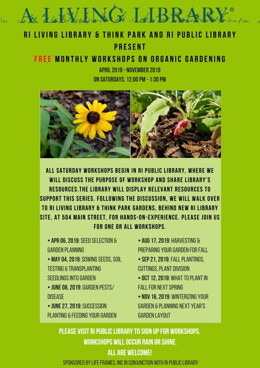 Free monthly workshops on organic gardening_Roosevelt Island Living Library & Think Park