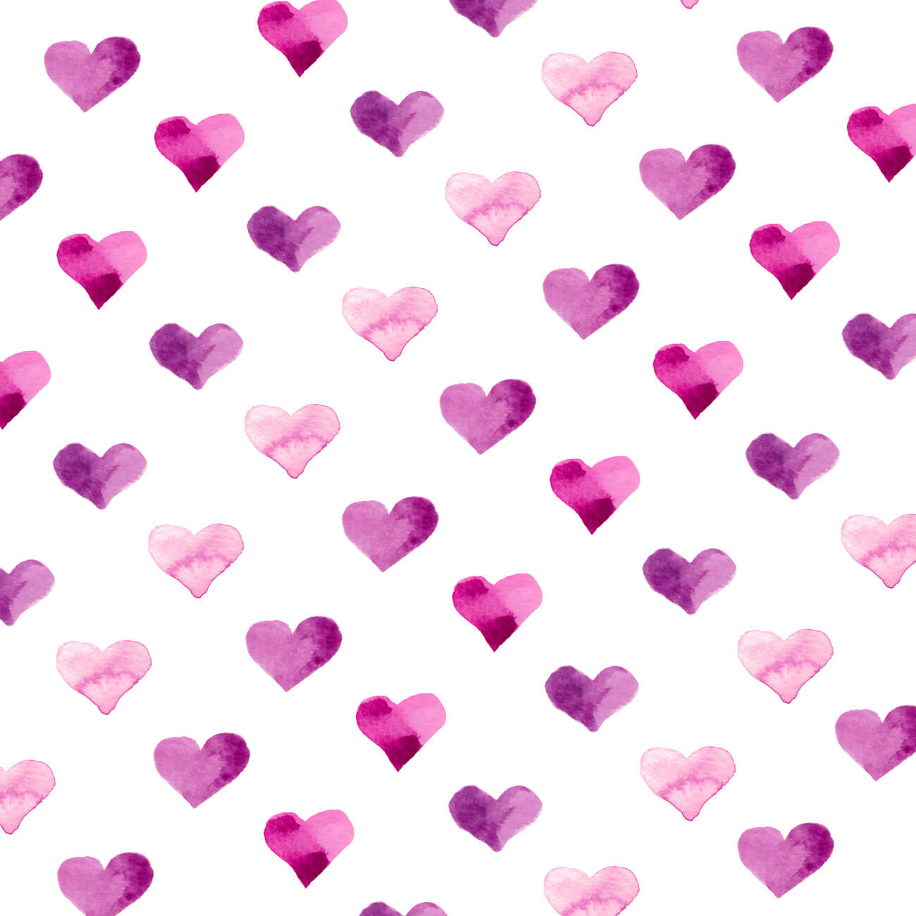 Pink Candy Hearts – Watercolor Art